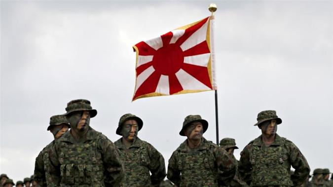 Japan s military rising with first marines since WWII   News   Al     Soldiers of Japanese Ground Self Defense Force Amphibious Rapid Deployment  Brigade  Japan s first marine