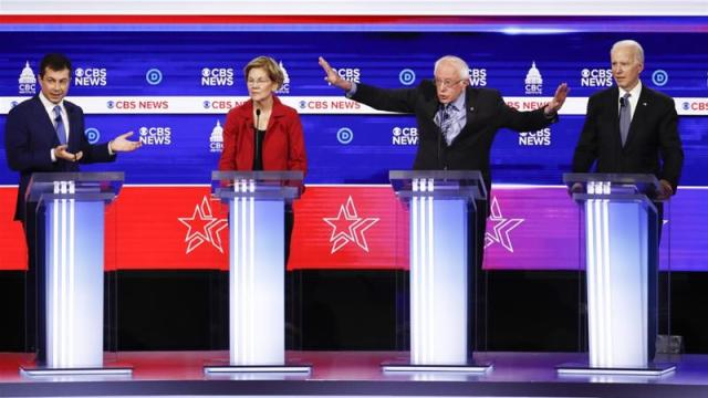 Frontrunner Sanders under attack in Democratic Party debate