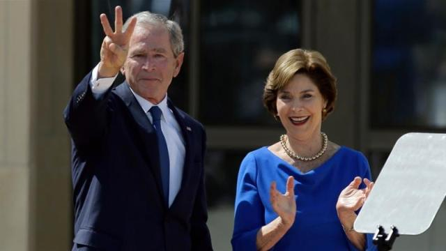 Former President George W Bush is aware of the effort, but a spokesman has said he will not wade into the 2020 election [File: David J Phillip/AP Photo]