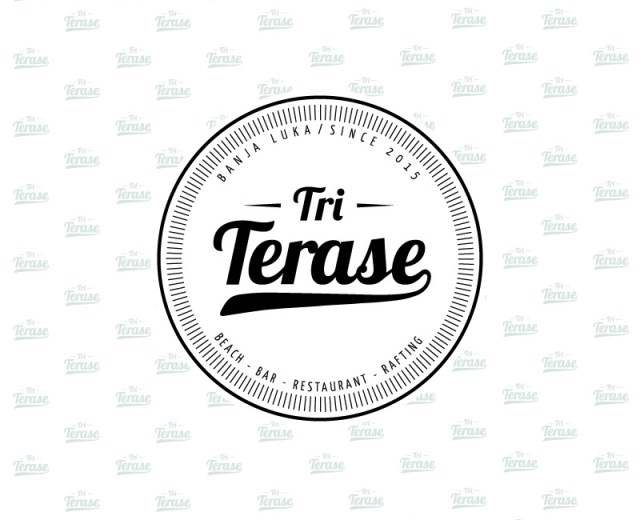 Tri Terase Logotip