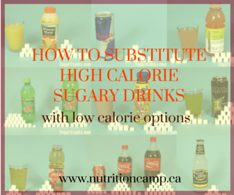 How to substitute high – calorie sugary drinks with low- calorie options