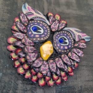 Owl brooch - 3