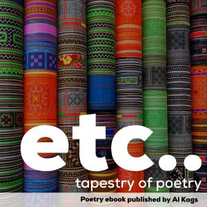 etc... book cover.  It says etc.., Tapestry of poetry