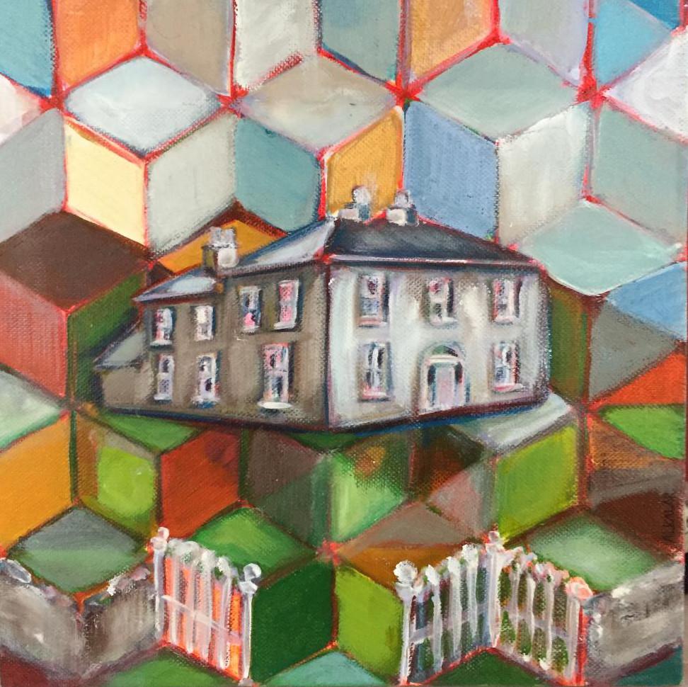 Ted. 25x25 cm. Oil and Acrylics on deep edge canvas.