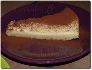 Gâteau magique à la vanille, chocolat amer