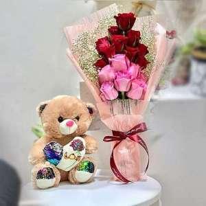 Roses With Teddy Bear Online In Saudi Arabia