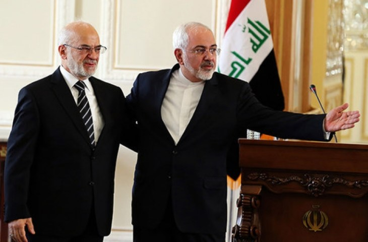 إبراهيم الجعفري وزير الخارجية العراقي مع نظيره الإيراني