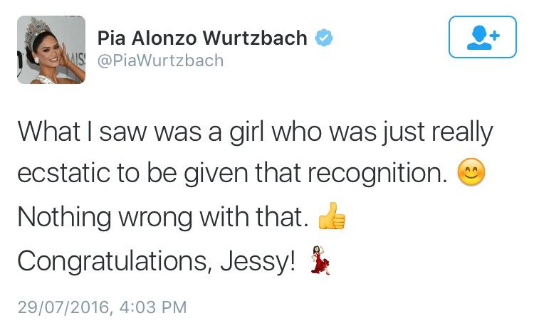 Photo from Twitter: PiaWurtzbach