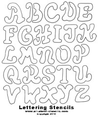 printable halloween stencil letters