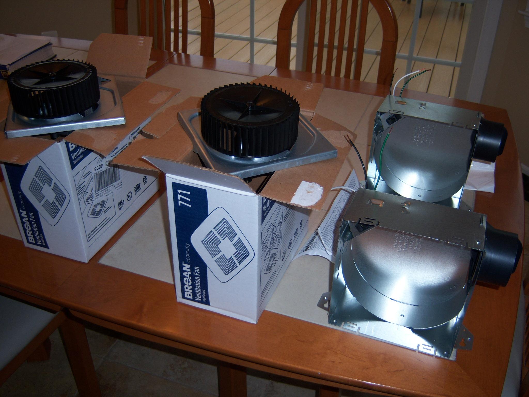 installing a bathroom ventilation fan