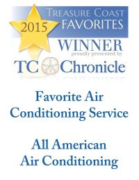 "TC Chronicle names All American AC ""Favorite AC service"" on the Treasure Coast."