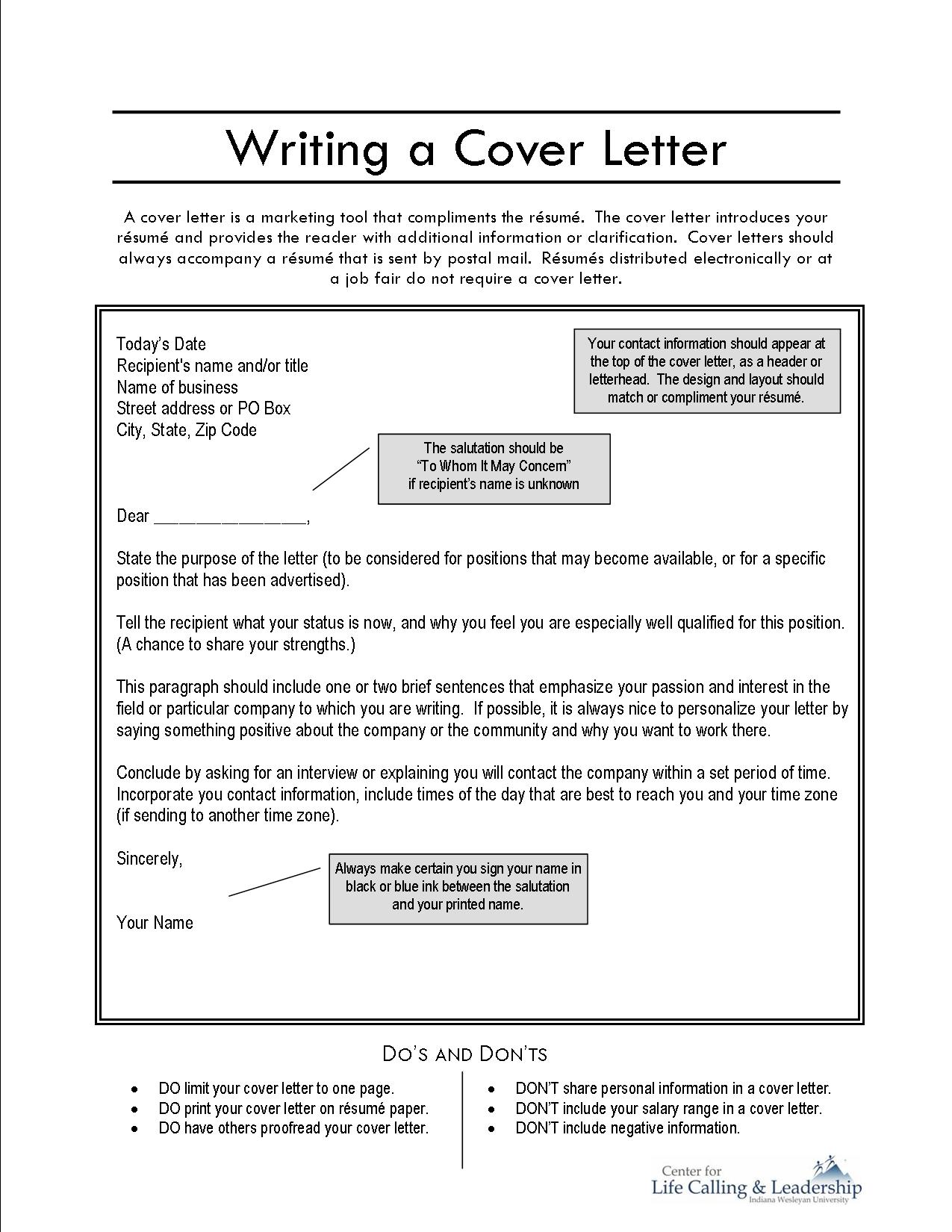Written Cover Letter Image collections - Cover Letter Ideas