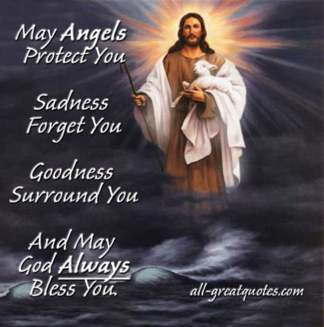 May Angels Protect You Sadness Forget In Loving Memory Cards