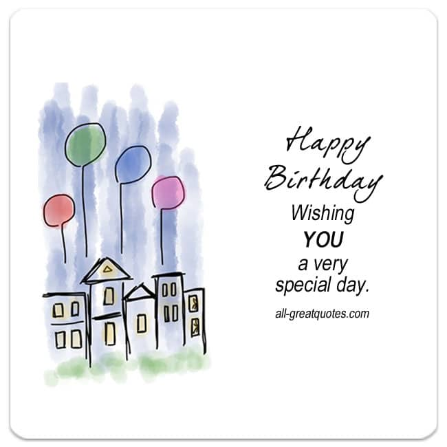 Wishing You A Very Special Day Free Birthday Cards