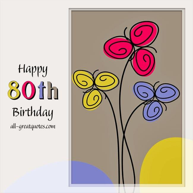Animated Happy 80th Birthday