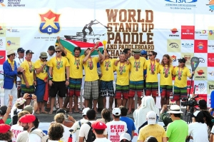 SUP Worlds Relay Team Bronze Medal 2012