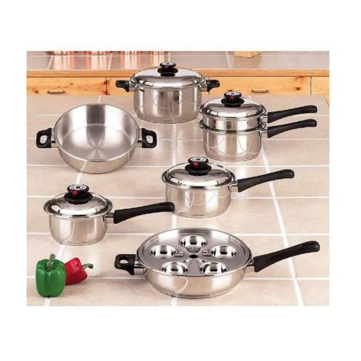 steam control waterless cookware set