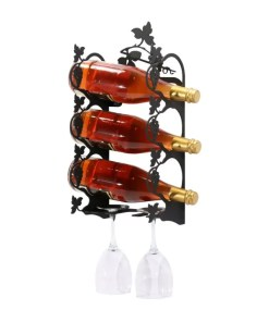 Grape Leaf Wall Wine Rack