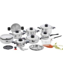 28pc Steel Waterless Cookware