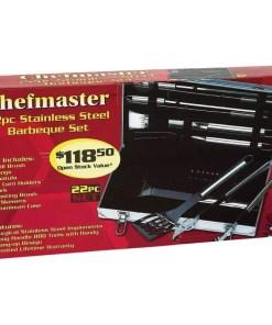 22pc Steel BBQ Tools Set