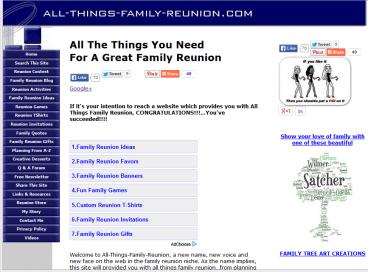 allthingsfamilyreunionwebsite