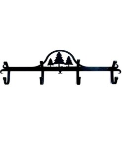 pine trees coat rack