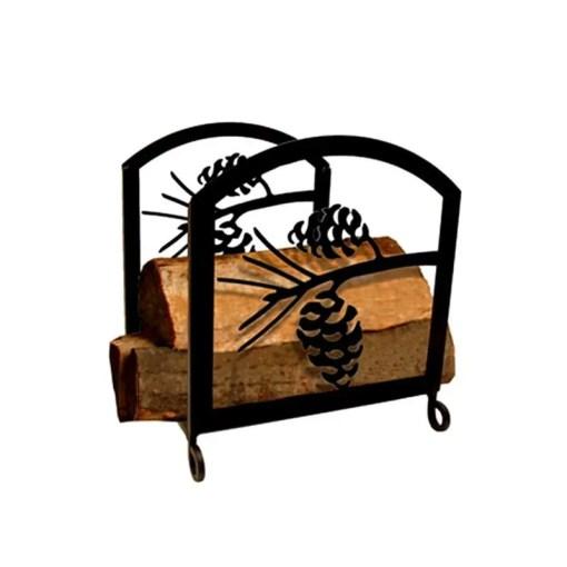 pinecone firewood log rack