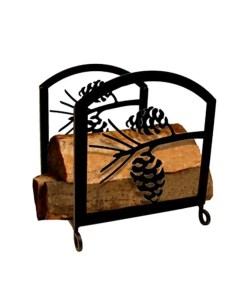 pinecone firewood log rack