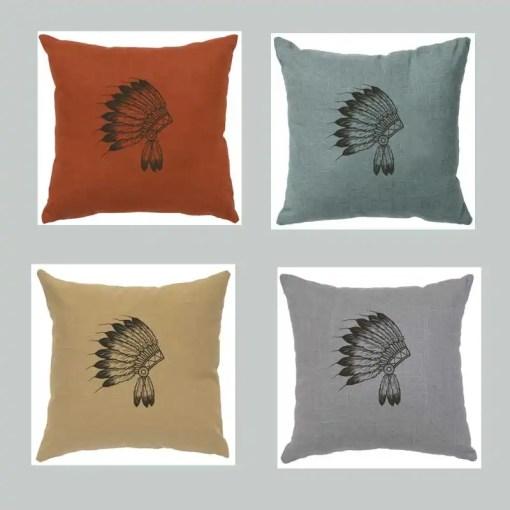 Indian Headdress Throw Pillow