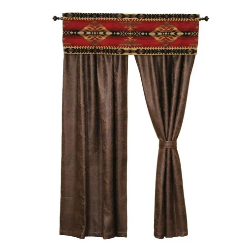 gallop red curtains set