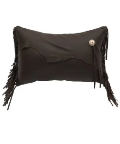 Deerskin Leather Pillow