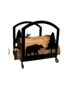 cabin firewood log holder