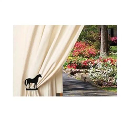 horse curtain tiebacks