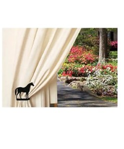 horse curtain tiebacks
