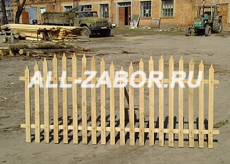Преимущества деревянного штакетника - Строительство ...