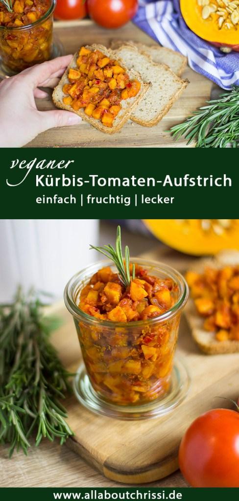 Pinterest Pin - veganer Kürbis-Tomaten-Aufstrich