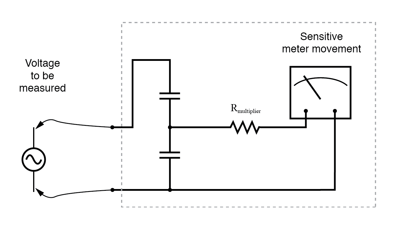 ac-voltmeter-with-capacitive-divider Wiring Voltmeter on