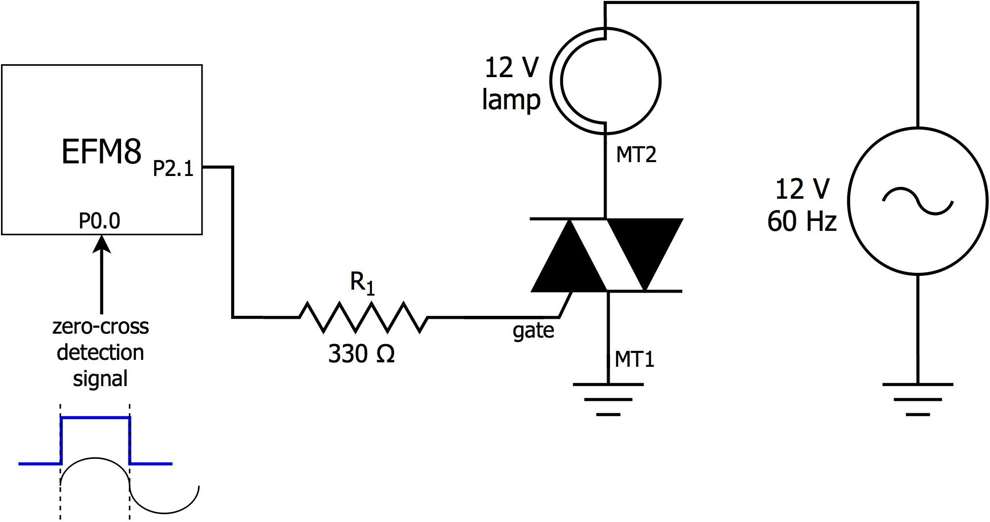 Ambient Light Monitor Using A Triac To Adjust Lamp Brightness