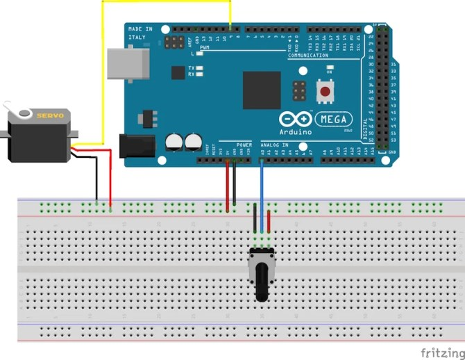 servo motor control with an arduino  projects