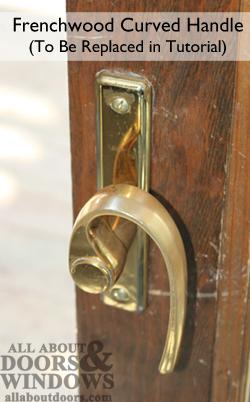 to tighten andersen sliding door handle