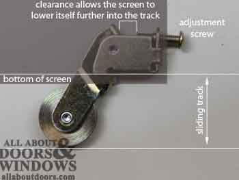 how to adjust peachtree sliding screen