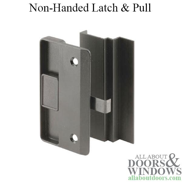 Non Handed Latch Amp Pull For Sliding Screen Door Black