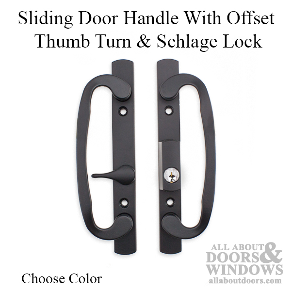 sliding glass door handles locking