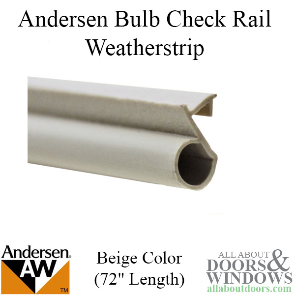 Andersen Window Weatherstrip Offset Bulb Narroline 72