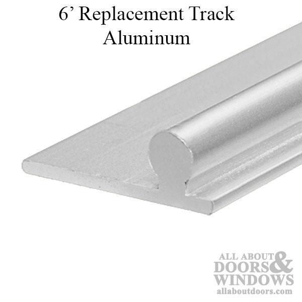 6 foot replacement track for sliding glass door aluminum