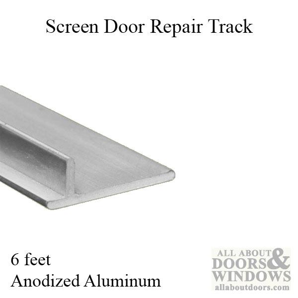screen door repair track sliding patio door anodized aluminum 6 feet 72 inches
