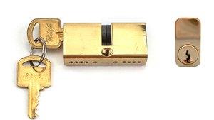 Mortise Lock Double Cylinder 27/27, Key Both Sides