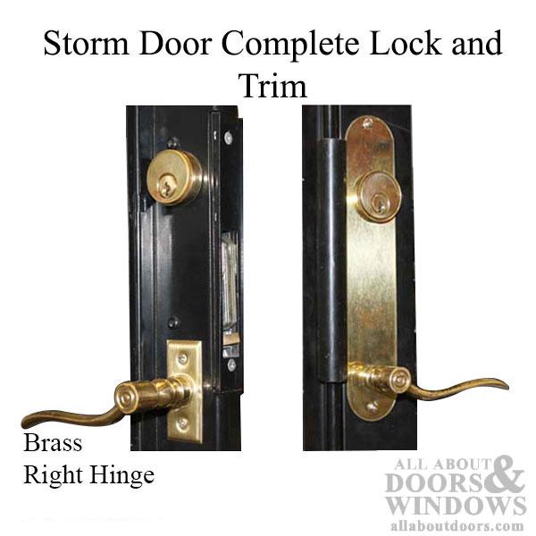Security Storm Door Complete Kit Lock Amp Trim Right Hinge