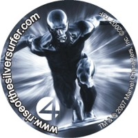 Mock up image of the Silver Surfer quarter.
