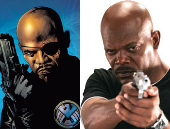 The Ultimate Nick fury character was visually based on Samuel Jackson